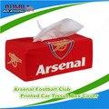 Tampa Da Caixa de Tecido Pano de algodão Removível Arsenal FC Arsenal Time De Futebol Do Clube Europeu Recipiente De Papel Dispenser Capa Auto Decoração