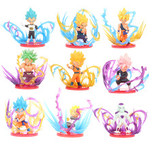 9 pçs/set Anime Dragon Ball Super Z Broly Gkuu Frieza Vegeta Batalha Ver. Figura de ação Brinquedos Modelo(China)