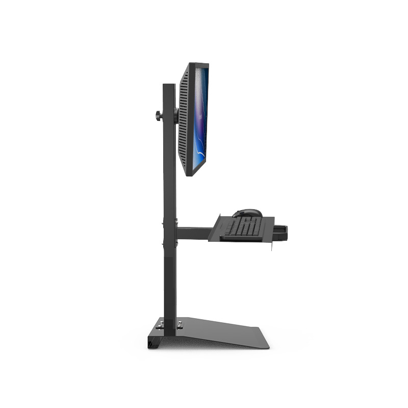 Customized Full Motion Desk Stand Sit-Stand Workstation Monitor Holder+ Keyboard Holder ...