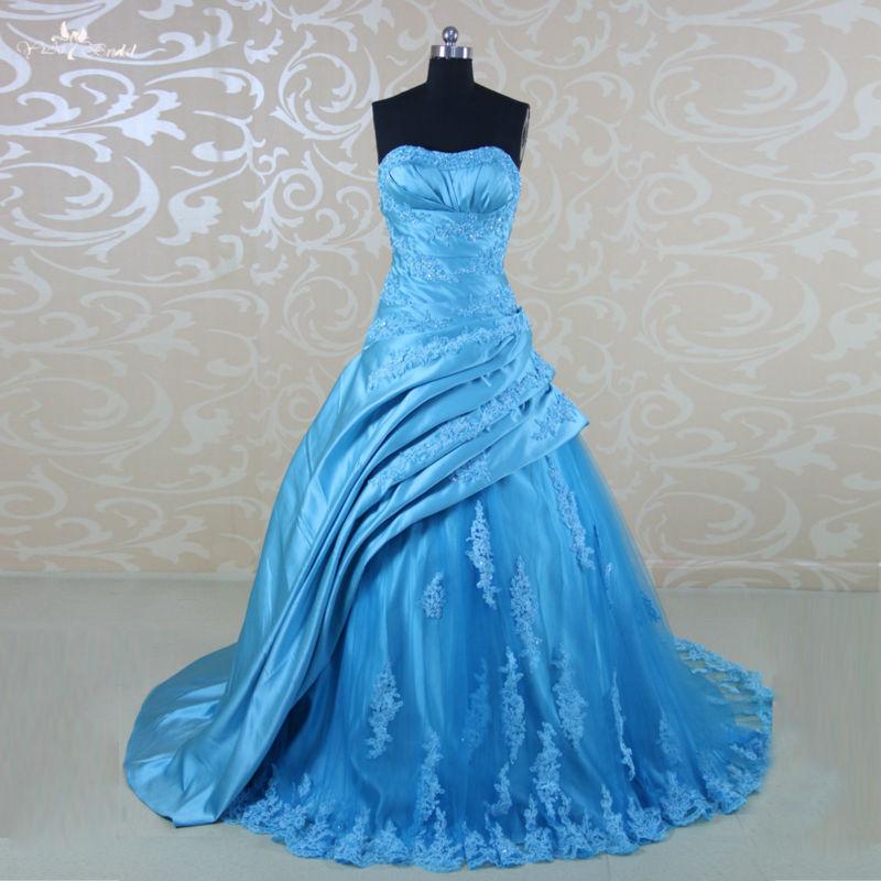 Online buy wholesale sky blue wedding dress from china sky for Sky blue wedding guest dresses