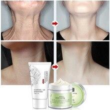 2Pcs/set Neck Mask And Neck Skin Care Cream Professional Anti Wrinkle Whitening Nourishing Firming Cervix Care Kit 180g XN51F