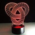 3D Лампы USB Novelty Акриловые Ночь Свет Абстрактный Узор Изменение Цвета Настольные Лампы Творческие Подарки или Домашнего Декоративного Освещения