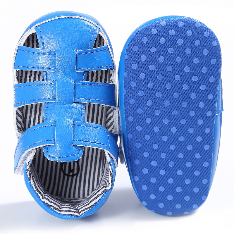 Raise Young PU Leather Summer Baby Sandals Hollow Soft Soles Non-slip Toddler Girl Shoes Newborn Infant Boy Footwear 0-18M