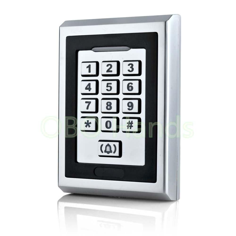 Sliver RFID Metal Control Locks With WG26/WG34 Input/Output Number/Digital Door Hotel Locks For Door Access Control System-K82 hotel use outdoor gold metal backlit led house number sign hotel room number signs