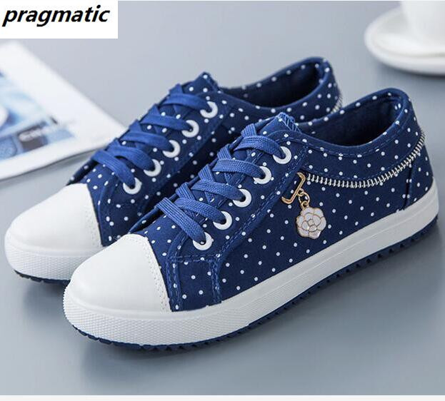 Walking Shoes Women Casual Denim Canvas Girl Lady Plimsolls Zipper school shoes Flats Loafers Tufli Zapatos Mujer Alpargatas