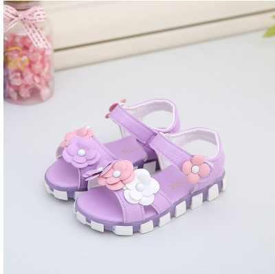 Kızlar sandalet için 2-7 yaş Peep Toe papyon prenses sandalet çocuk parti ayakkabıları kız boyutu 21-30 çocuk yaz ayakkabı