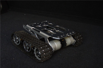 Tank chassis intelligent car crawler chassis crawler vehicle tank vehicle tank robot metal motor Diy Tracked Crawler Caterpilla фото