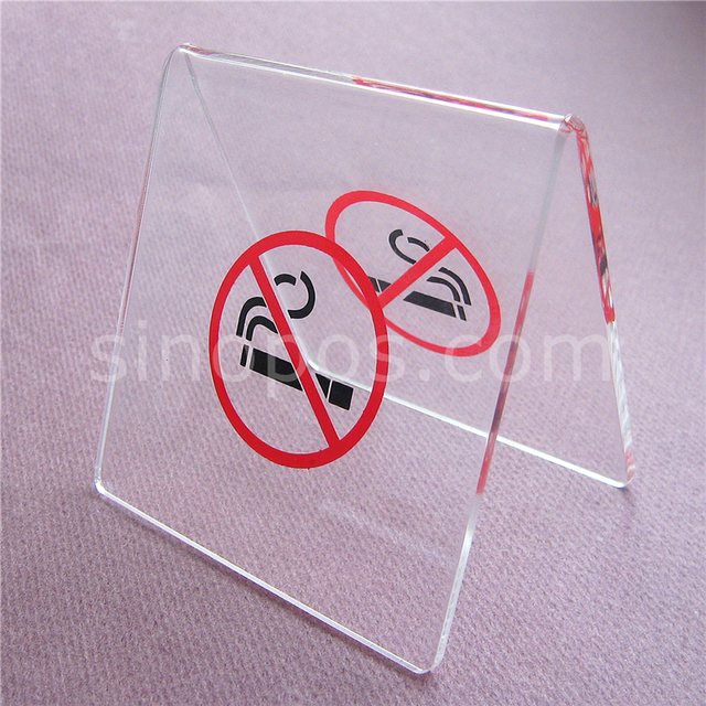 Tabletop Acrylic Non Smoking Stand Desk Rack Clear