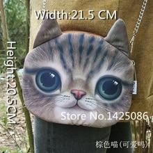Горячая распродажа! Новый разработанный женский ретро мультфильм 3D животных печать сумки на ремне кошка сумки женщин для девочек кошка, Артикул 0313(China (Mainland))