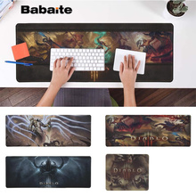 Babaite Hot Sales Diabloe Gaming Player desk laptop Rubber Mouse Mat Free Shipping Large Pad Keyboards