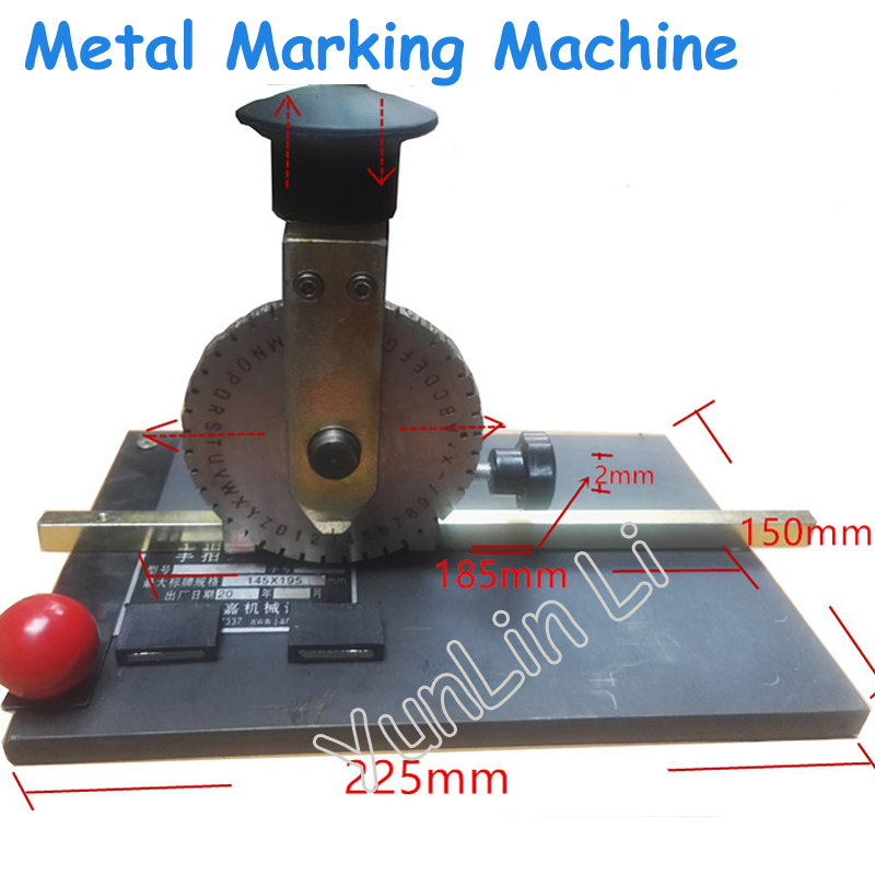Manual Marking Machine Deboss Embossing Machine Dog Tag Metal Plate Stamping Embosser with 4mm Print wheel JTK-508 dog tag press machine manual 52 d characters for steel metal embossing in dog tag