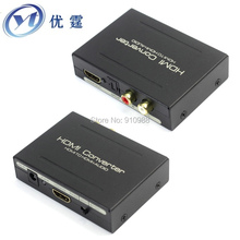 YOUTING YT-HD02 HDMI TO HDMI+Audio (SPDIF+L/R) hdmi audio extractor 5.1 splitter to spdif rca stereo Send fiber optic cable