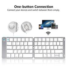 Dsstyles Mini Keyboard Foldable Wireless Keyboard Bluetooth untuk iPad/iPhone/MAC Buku/Komputer PC/Tablet Android(China)