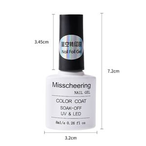 Image 2 - 1 botella de 8 ml de pegamento de lámina adhesiva para uñas, adhesivos de lámina Profesional, Diseño de transferencia de papel, accesorio para decoración de uñas, herramientas