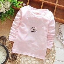 2016 children 's clothing boys girls clothes 100% cotton long sleeved T – shirt bottoming shirt baby beard pattern Spring Autumn