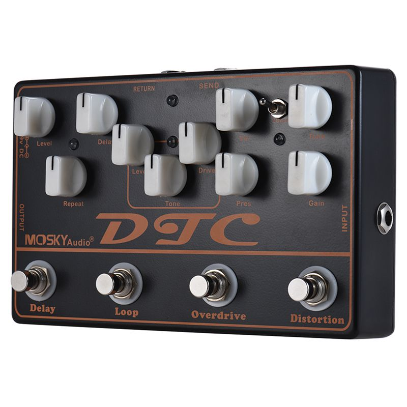 MOSKY DTC 4-in-1 Electric Guitar Effects Pedal Distortion + Overdrive + Loop + DelayMOSKY DTC 4-in-1 Electric Guitar Effects Pedal Distortion + Overdrive + Loop + Delay