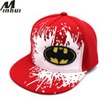 Minhui 2017  New Children Boys and Girls Caps Cartoon Bat Snapback Hats for Kids Hip Hop Baseball Cap