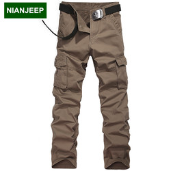 Nianjeep 29 38 size men s casual militares pants loose military tactical trousers overalls male cargo.jpg 250x250