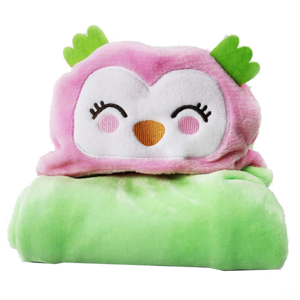 Flanela toalha de banho do bebê recém-nascido toalha de bebê dos desenhos animados inverno quente flanela cobertor à prova de vento com capuz casaco swaddle bebê deken