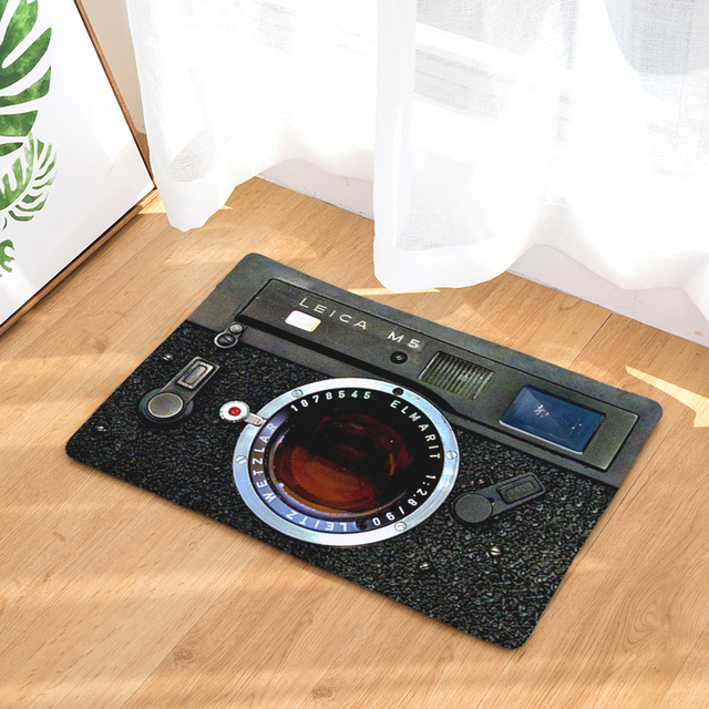 Anti-Slip 3D Camera Patterned Entrance Rug