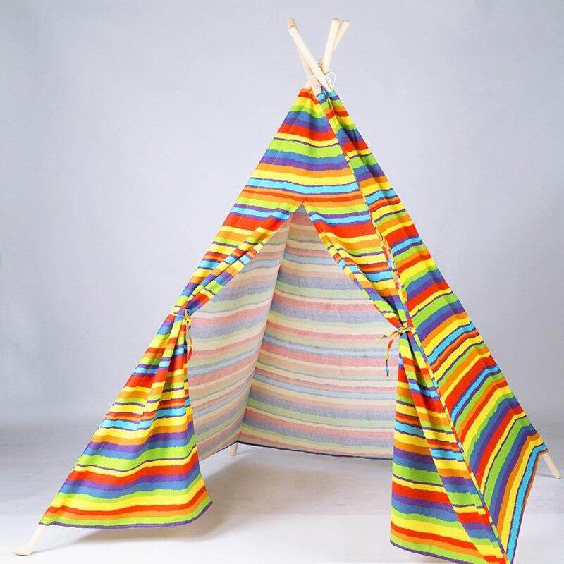 Cour jouet enfants jouer tente coton bébé tipi pour enfant tente indien enfants châteaux