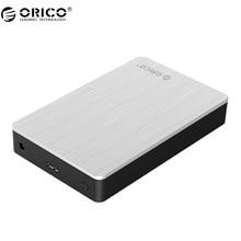 ORICO 3.5 inch Aluminum USB3.0 Hard Drive Enclosure Support 8TB Storage SATA3.0 6Gbps -Silver (MD35U3)
