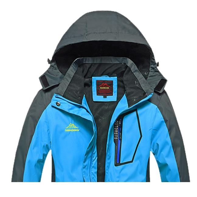 Spring autumn Women Outdoor jacket Windproof Camping Hiking sports coat fishing tourism mountain jackets waterproof women blue M