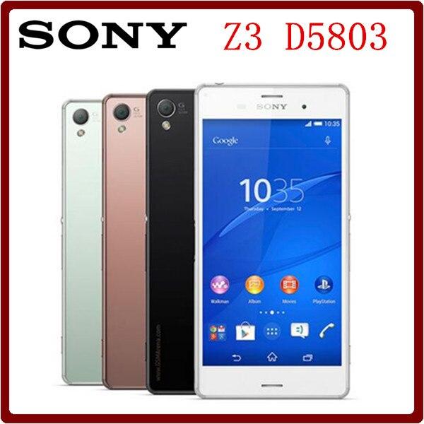 Цена за D5803 Оригинальный Разблокирована Sony Xperia Z3 Compact D5803 16 ГБ ROM 2 ГБ RAM 3 Г 20.7MP 4.6 ''Quad Core 2600 мАч Смартфон Бесплатно доставка