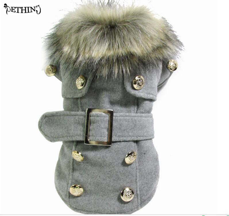 High Quaity warm Dog Clothes Pet Woolen Coat cute dog coat jacket autumn and winter 3color S M L XL Size choose