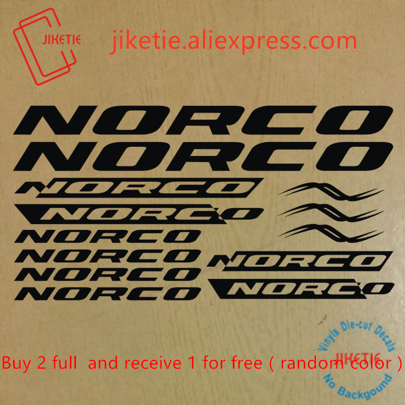 NORCO Mountain Bicycle Frame Decal Stickers Graphic Adhesive Set Vinyl Green