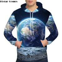 PLstar Cosmos Earth Hoodies Moon Sweatshirts Male Galaxy Clothing 3D Sweat shirt 3d hoodies Hoodie Men Print blouses Hoody X 5XL