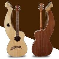 Aiersi Фабрика Новая разработанная Высококачественная арфа Акустическая гитара SHG001T