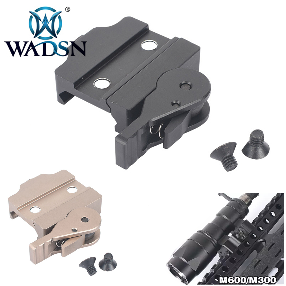 ADM Quick Lease Mount For M300&M600 WADSN Airsoft M300 M600 Tactical Flashlight Scope Light Mounts EX631 Weapon Light Accessory