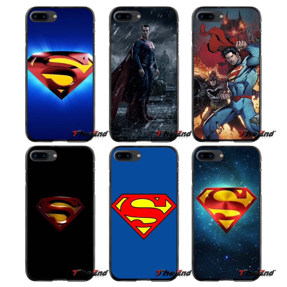 Superman Logo For Apple iPhone 4 4S 5 5S 5C SE 6 6S 7 8 Plus X iPod Touch 4 5 6 Accessories Phone Shell Covers