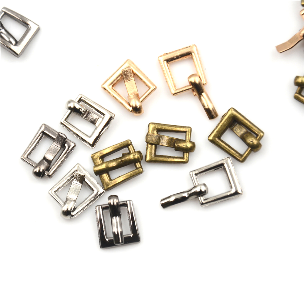 10PCS 4MM Diy Bjd Blyth Doll Buckle Shoes Accessories Mini Ultra-small Japanese Word Buckle Belt Buckle 100pcs mini button buckle blyth doll clothing accessory tri glide 3 mm ultra small belt buckle doll clothes buttons shoes buckle