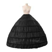 Swing Vintage Slips Intimates Cheapest Plus Size White Petticoat 6 Hoope Long Crinoline Underskirt Hoops Skirt