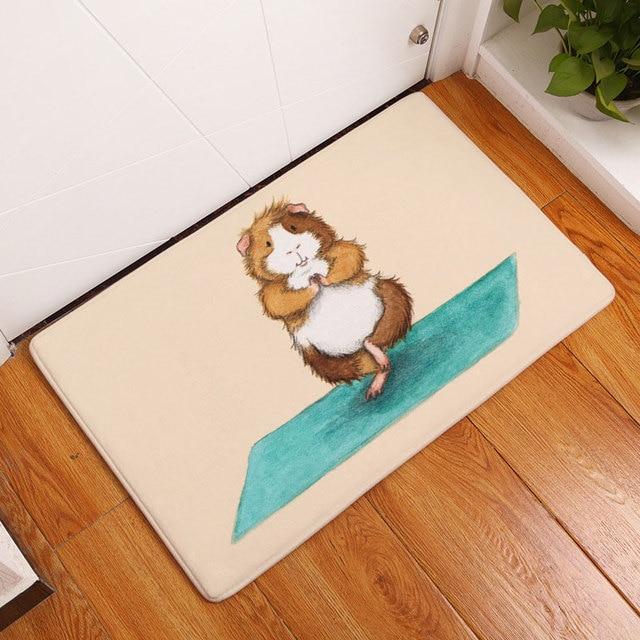 2017 Cartoon Yoga Hamster Afdrukken Slaapkamer Tapijten Antislip ...