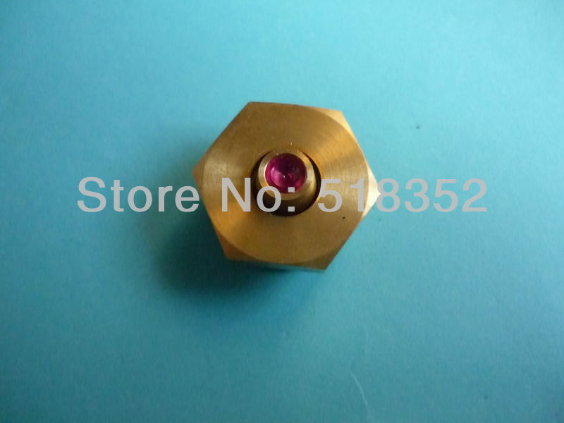 ID0.195mm Ruby Water Nozzle with 50mmx 50mm Water Jet Panel for WEDM-MS Medium Speed Wire Cutting Machine Parts цена