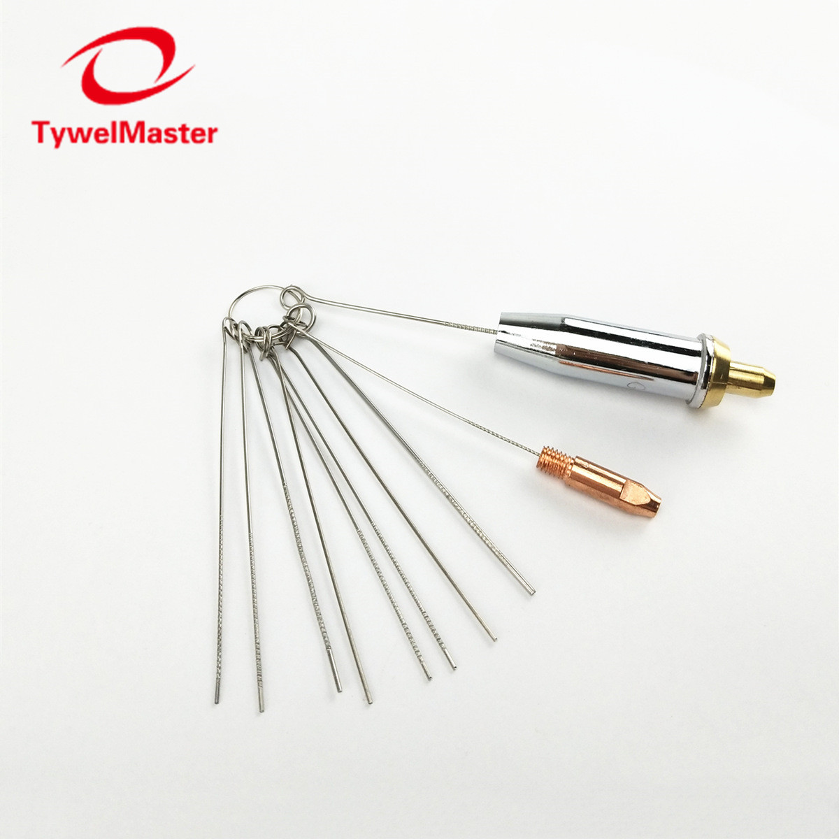 Nozzle Cleaner Gas Welding Brazing Cutting Torch Tip Cleaner 10Pcs Set 0.6mm-1.3mm Guitar Nut Needle Files Nozzle Jet