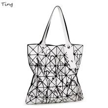 Fashion Brand woman BAOBAO Issey geometry Plaid Top-handle bags Miyake Designer flower handbags goyar vintage tote Shoulder bags