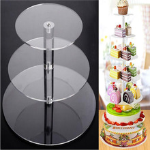 Acrylic Cupcake Display Stands Supplies 3/4 Tier Clear White Round Cup Tower Cake Stand Wedding Birthday Party Cakes Decorations