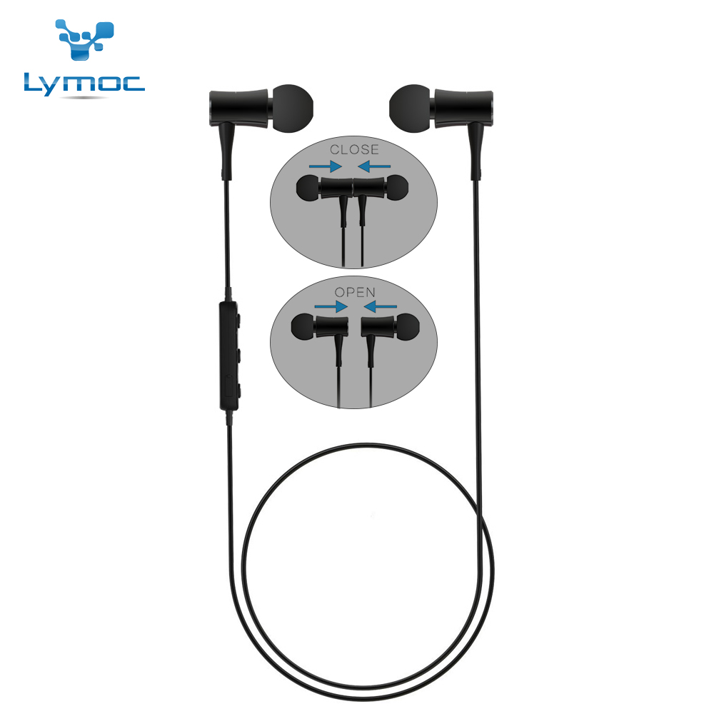 LYMOC HT3 Sport Bluetooth Headsets Phone Wireless Earphones Magnet Switch Running IPX4 Waterproof HD Mic Handsfree for iphone X bluetooth wireless sport gloves earphones headsets headphones winter warm gloves touch screen handsfree calls mp3 play for phone