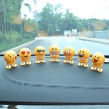Cartoon plastic funny shaking head car accessories interior