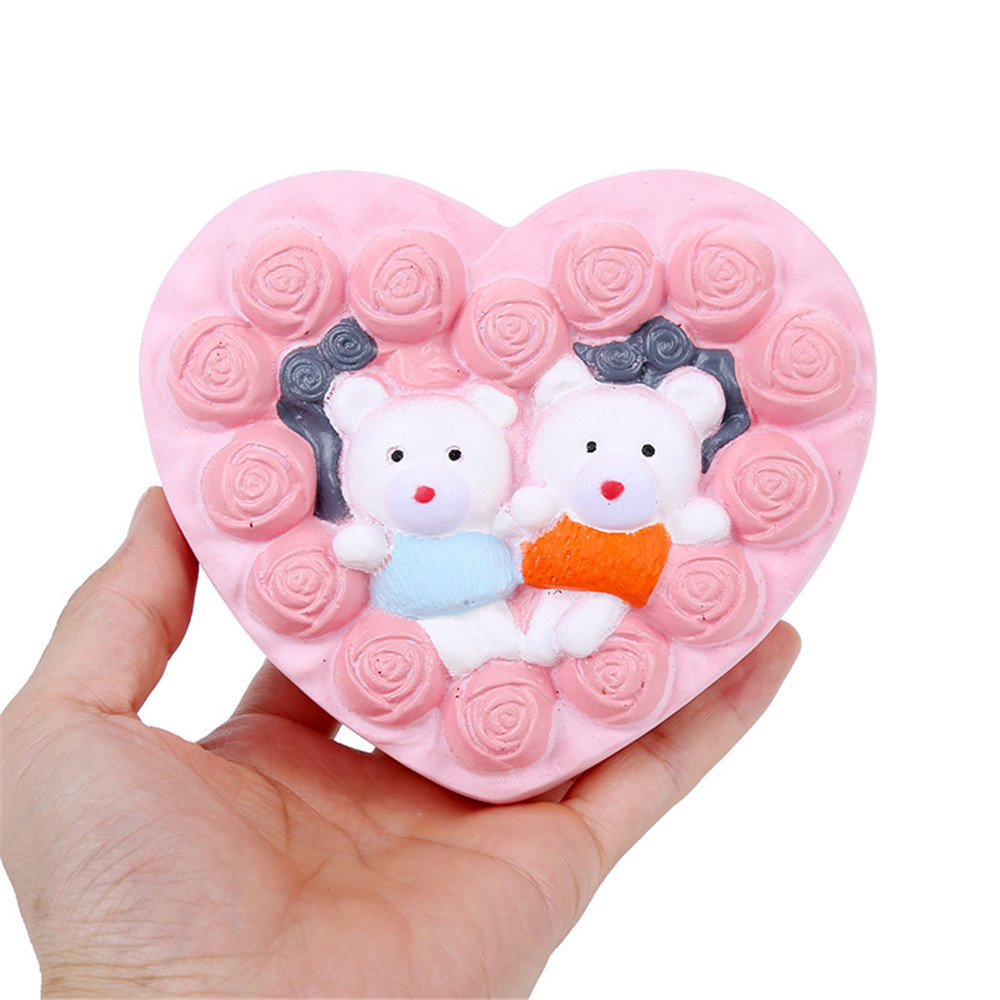 Delicious Couple Bear Cake Scented Squishies Doll Slow Rising Stress Relief Squeeze Toys Scented for Kids Gift Anti Stress Toy enlarge
