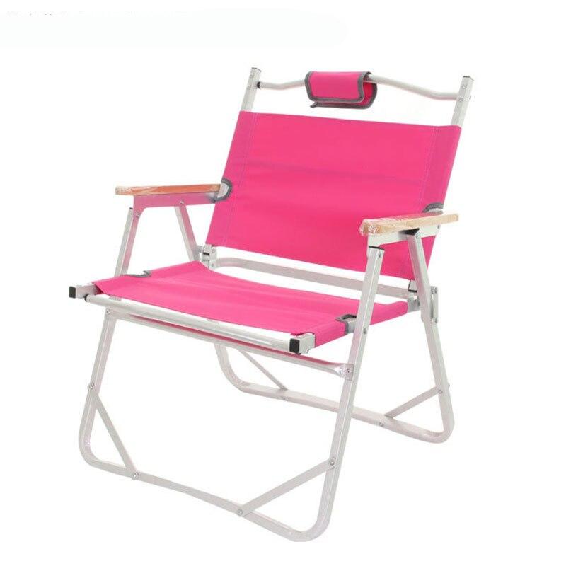 Folding Beach Chair Camp Furniture Al 3kg 56x47x66cm 200kg Coffee Outdoor Fishing Chair Stool Double Layers Oxford Camping Chair|Beach Chairs| |  -