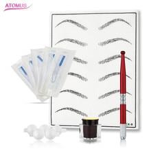 Professional Dermografo Para Microblading Tattoo Machines Kits Makeup Manual 3d Permanent Eyebrow Kit