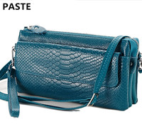 Fashion Ladies Hand Bag Leather Multi Layer Package European American Style Women S Serpentine Clutch Bag
