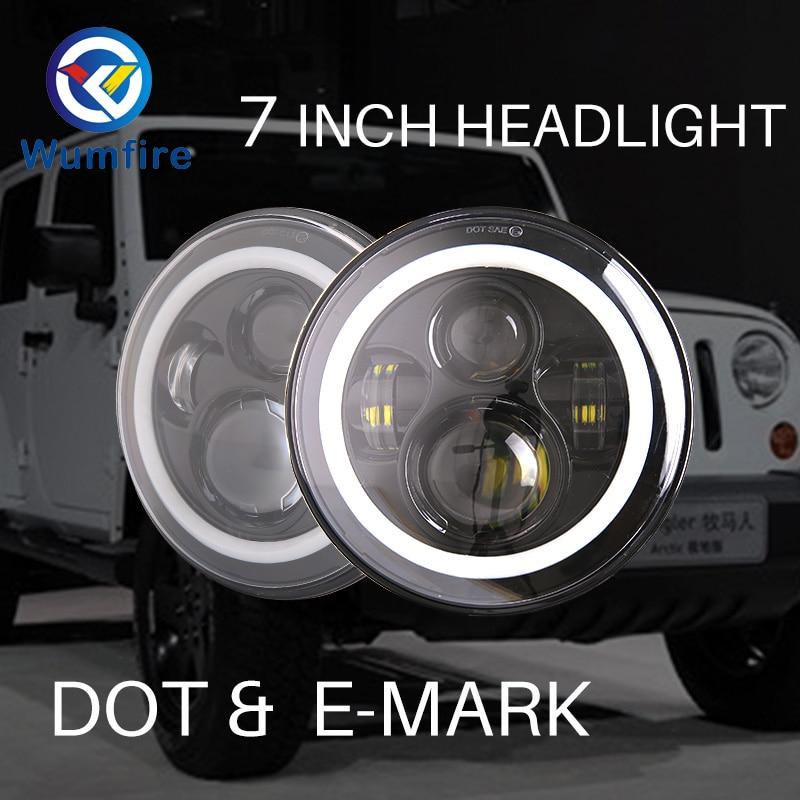 Для защитника джип Вранглер 7-дюймовый круглый светодиодные фары высокая низкая Луч DC 12 В 24 В наружное освещение фары для Лада Урбан 4х4 Нива