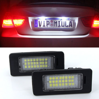 2Pcs Car Led License Plate Led Light Lamp 12v White For BMW E39 E60 E82 E90 E92 E93 M3 E39 E60 E70 X5 E60 E61 M5 E88 image