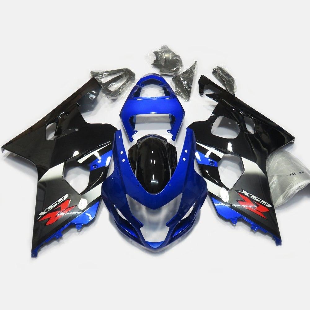 Full Fairings For Suzuki GSXR 600 750 K4 2004 2005 GSXR600 GSX-R750 04 05 Injection Molding Fairing Kit Bodywork Blue Black